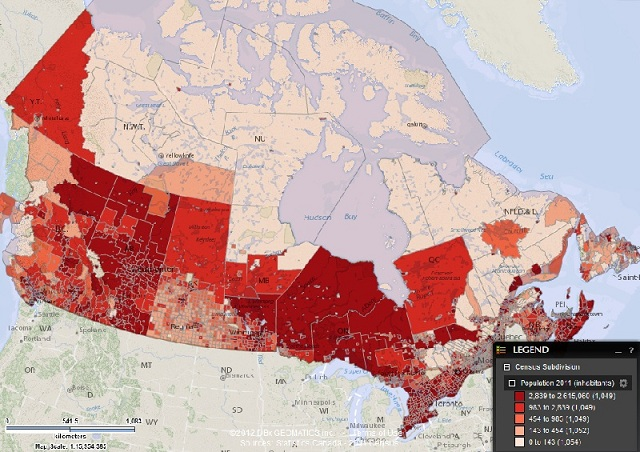 Indice demografico del Canada
