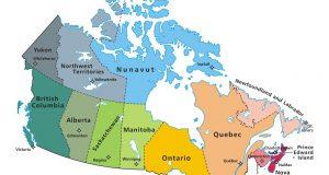 Mappa politica del Canada