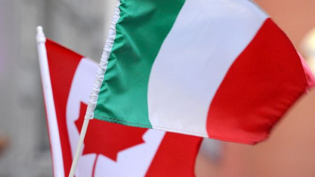 Canada Italy Flags